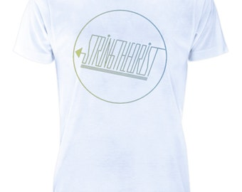 Men's Recycled Polyester T-shirt Graphic (Circle Logo) - Stringtheorist Official Merchandise