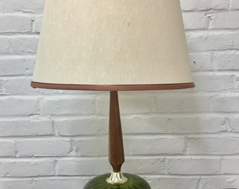 GORGEOUS Mid Century Modern Danish Style Table Lamp With Shade