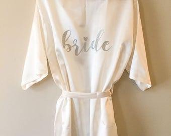 bride satin robe, bride robe, wedding robe, satin robe, bride robe