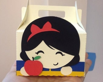 Princess Snow White Favor Box ( Set of 10)