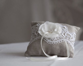Rustic ring pillow, Wedding ring pillow, Wedding ring bearer pillow, Rustic wedding Ring cushion, Wedding accessories, Rustic wedding