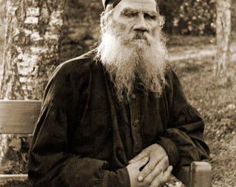 "1897 Leo Tolstoy Vintage Photograph 8.5"" x 11"" Reprint"