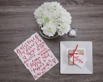 Custom Calligraphy Menu