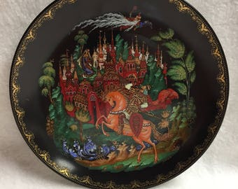 Tianex Russian Fairy Tale/Legend Collector Plate - Ruslan and Ludmilla (#058)