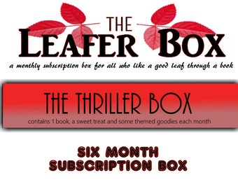 Leafer Box - Six Month Subscription Book Box - The Thriller Box