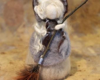 Waldolf inspired needle felt doll -Hilary