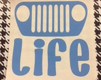 Jeep Life (TJ) Decal/TJ Jeep/Jeep/Jeep Life/Jeeps/Jeep Decals