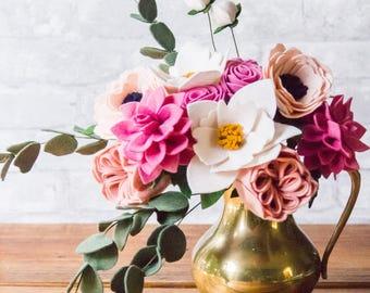 Felt Flower Bouquet (Princess/Weddings)