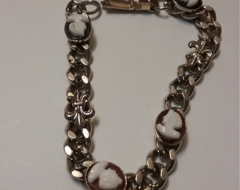 coro cameo bracelet