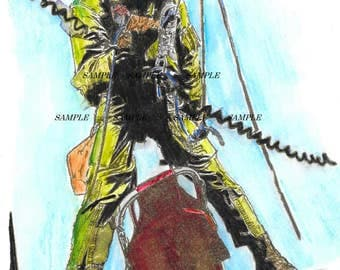 Doc on Rappel 8x10 watercolor