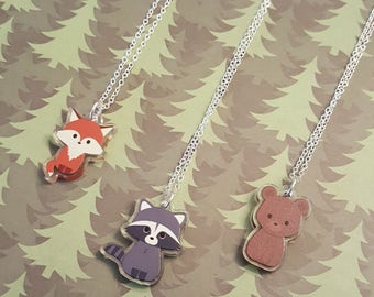 Forest animal necklace