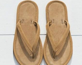 Celtic and Co Women's Suede Flip Flop Handmade Sandals