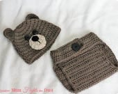 CROCHET PATTERN Bear Hat and Diaper Cover