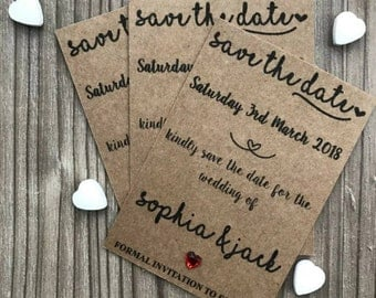 Personalised Magnetic Wedding Save The Date Cards & Envelopes