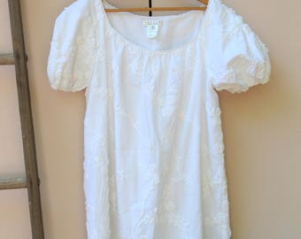 White Summer Shift Dress