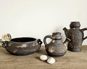 Vintage 70s pitchers vase bowl set by Jopeko from West Germany