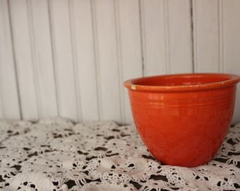Vintage Fiesta Small Mixing Bowl - Red (#1), RARE, FREE SHIPPING!