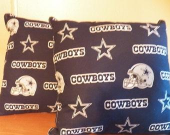 "Dallas Cowboys Throw Pillow Set Of 2 15""X15"""