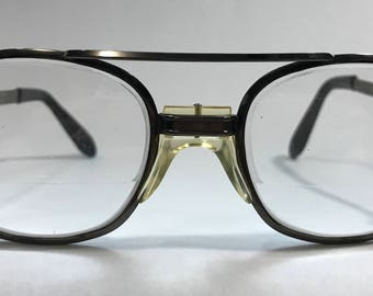 1970-80's | Black glasses w/lenses | medium weight