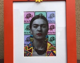 Frida Kahlo Mixed Media Collage Frame