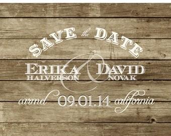 Rustic Wedding Save the Date Postcard - Custom Digital Printable