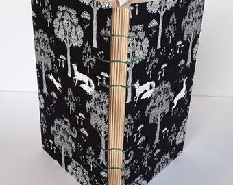 Woodland Creatures - Coptic Stitch Journal Sketchbook Hardcover - Deer and Foxes