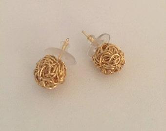 Nest Golden Earrings