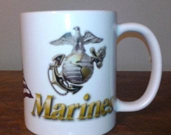 USMC Marine Corps Ceramic mug