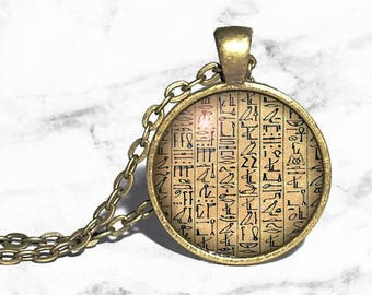 Egyptian Hieroglyphics, Egypt Necklace, Book of the Dead, Ancient Egypt, Valley of the Kings, Egyptian Ring Bracelet Keychain