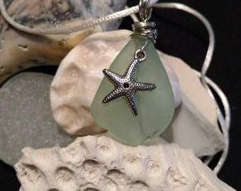 Beautiful Aqua Seaglass Pendant!