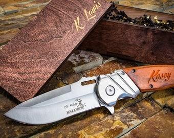 Groomsmen Gift, Groomsmen Knives, Engraved Knife, Personalized Knife, Gift for Dad, Gift for Boyfriend, Husband Gift, Husband Knife - Silver