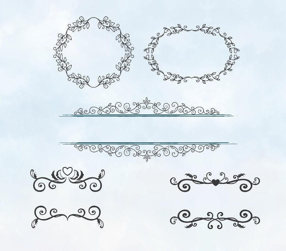 Car body sticker design eps - Svg Wreaths And Text Divider Silhouette Download Love Design For Vinyl Cutting Design