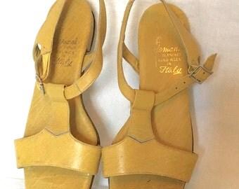 Vintage 60s Domani di Firenze Leather Sandals