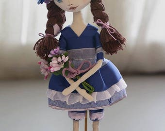 Made for order, Art doll, fabric doll, textile doll, interior doll, OOAK doll, Handmade doll, Collectable doll, Rag doll, Custom made, decor