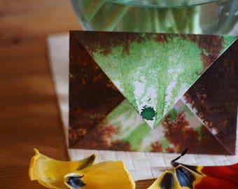 Brown-green envelope