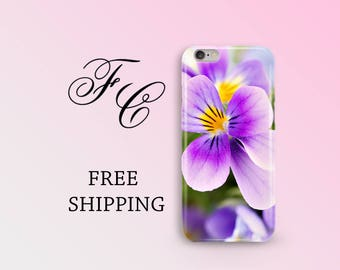Purple Flower iPhone Case iPhone 7 Plus Cases iPhone 6 Case iPhone 7 Cases Phone Cases iPhone 5s Case iPhone SE Case Floral iPhone 5c bhb
