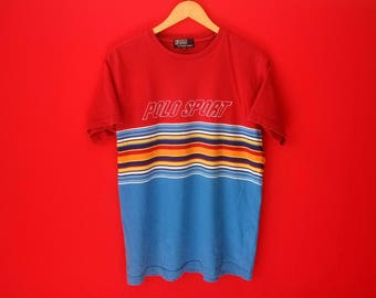 vintage Ralph lauren polo sport colourfull medium mens t shirt