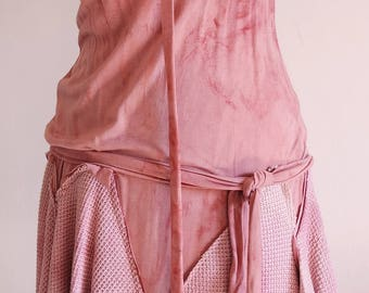 bamboo dress antique rose madder roots organic natural dyeing