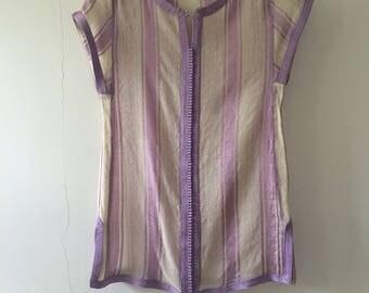 Stunning Sheer Vintage Moroccan Linen Top/Tunic