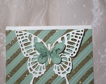 butterfly just because card