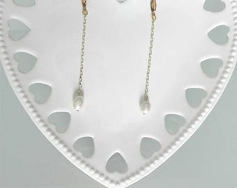 Made in Italy, handmade earrings with pearls