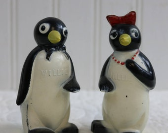Millie and Willie Salt and Pepper Shakers