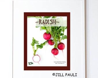 Radish Seed Packet Wall Art
