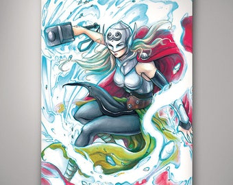 Marvel - Thor (Jane Foster)// Art Print// Illustration