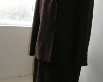 Viyella Womens Suit Skirt Jacket - Wool Poly blend - Purple & Green - UK Size 16-18
