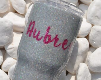 Kids Glitter Cup |  Kids Tumbler | Customized Kids Cup | Kids Glitter Tumbler | Kids cup with lid |  Kids Water Bottle |14 Oz.