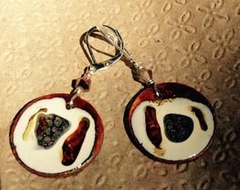 Hand Painted Earrings (nickel size)