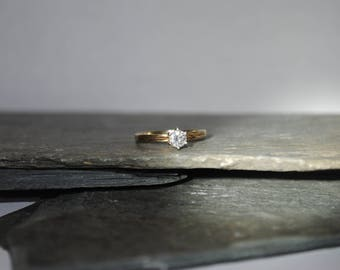 10k Yellow Gold Ring With A .25 Carat Diamond