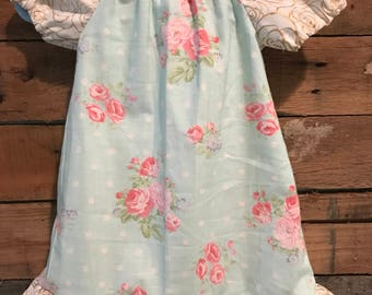 Girly floral blue dress!