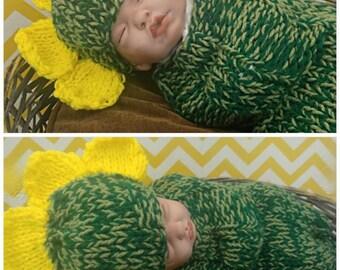 Newborn Flower Hat & Cocoon Set